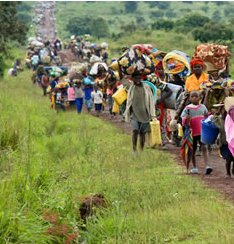 People flee from violence in the congo