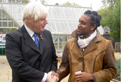 Boris Johnson at the launch of Capital Growth