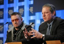 Bono & Al Gore - WEF Annual Meeting Davos 2008