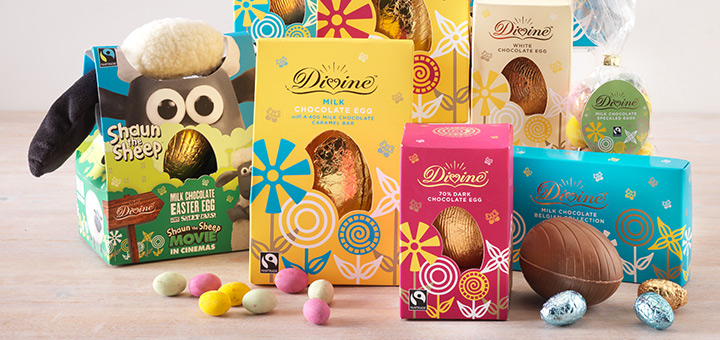 Divine Chocolate Shaun the Sheep easter egg