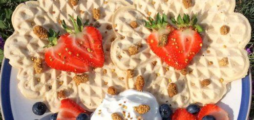 Aduna recipe for Coconut and Baobab Waffles