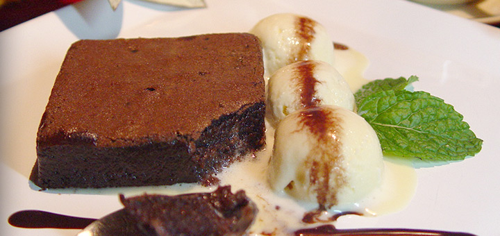 Divine chocolate brownie