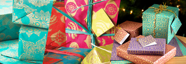 Eco-friendly fair trade Christmas gift wrap at Ethical Superstore