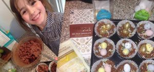 Easter chocolate nests with Divine Chocolate