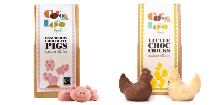 Cocoa Loco Fairtrade chocolate chicks and pigs