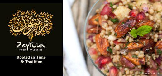 Zaytoun Fairtrade maftoul salad