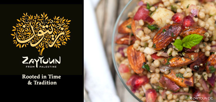 Zaytoun Fairtrade maftoul salad