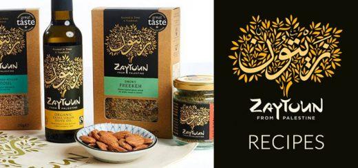 freekeh, almonds, olive oil