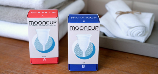 Mooncups in bathroom