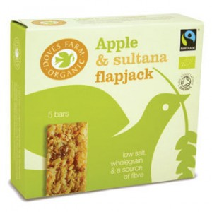Great tasting, full of energy Apple and Sultana organic flapjacks