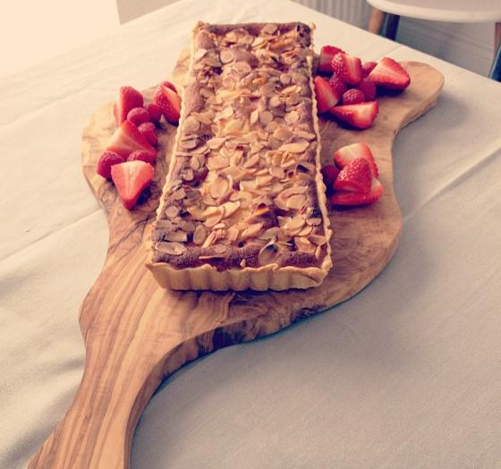 Organic Raspberry and almond Tart