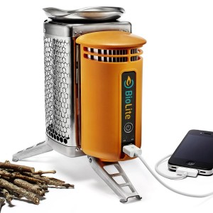 BioLite camping stove with USB