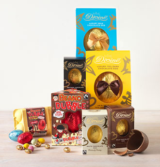 Delicious Easter chocolate eggs