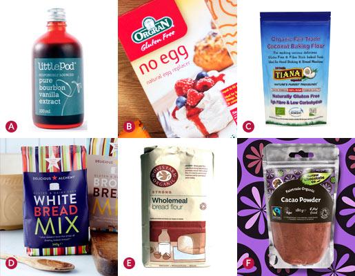 Baking ingredients - organic, fairtrade or gluten free