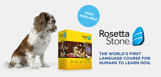 Rosetta Stone for Dogs April Fool