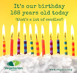 Vegetarian Society birthday