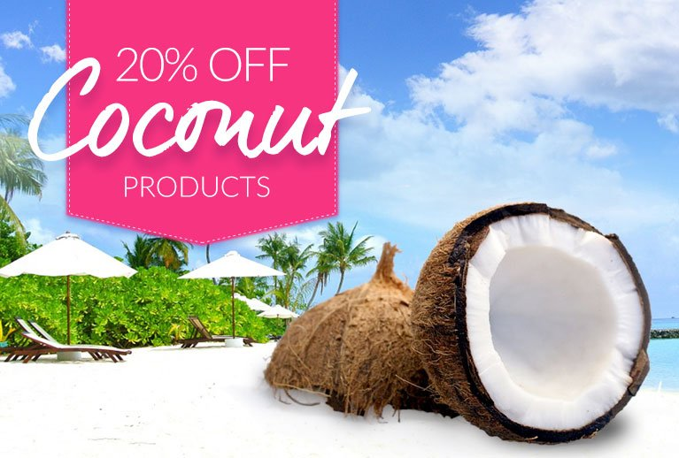 Go Nuts - 20% off all Coconut Products