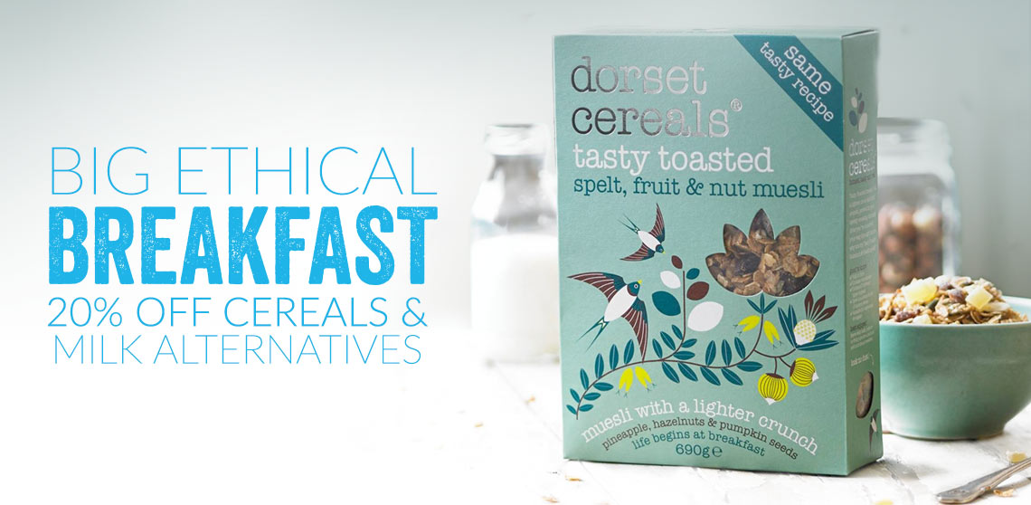 Big Ethical Breakfast - 20% Off Breakfast Cereals