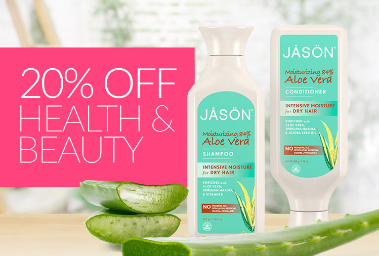 20% Off Beauty, Health & Wellbeing*