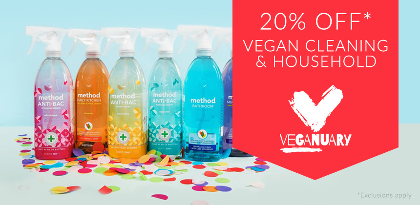 20% Off Vegan - Cleaning & Household*