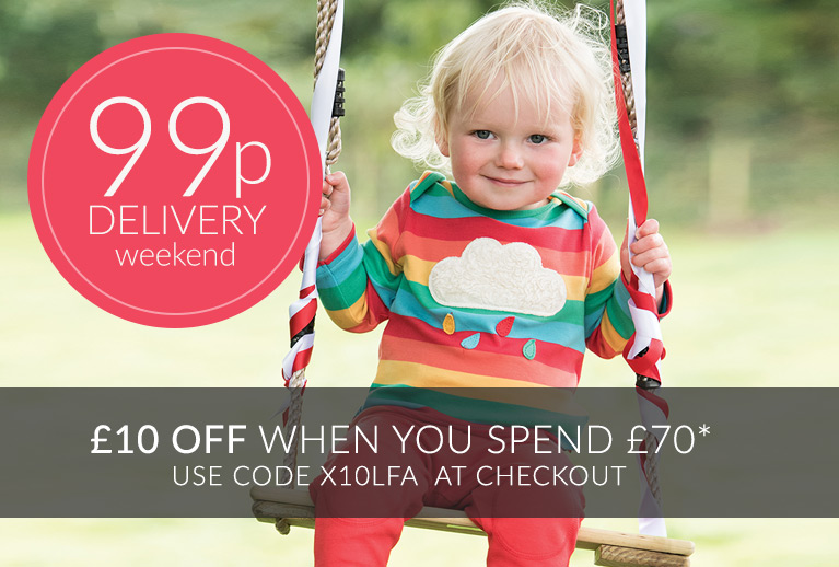 99p Delivery All Weekend* + Save £10 off orders over £70, use code X10TMY
