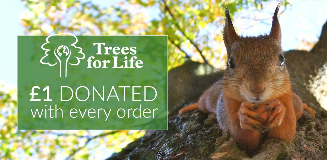 £1 Donated To Trees For Life With Every Order*