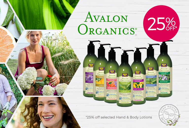 25% Off Selected Avalon Organics Hand & Body Lotions