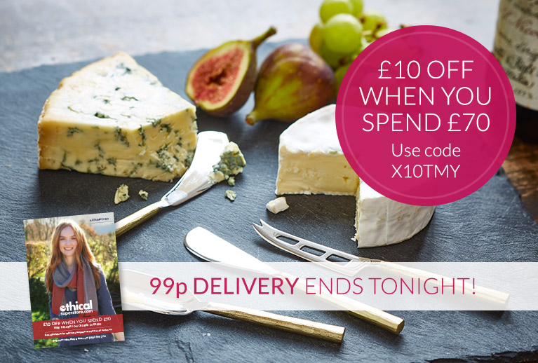 99p delivery ends tonight + Save £10 off orders over £70, use code X10TMY