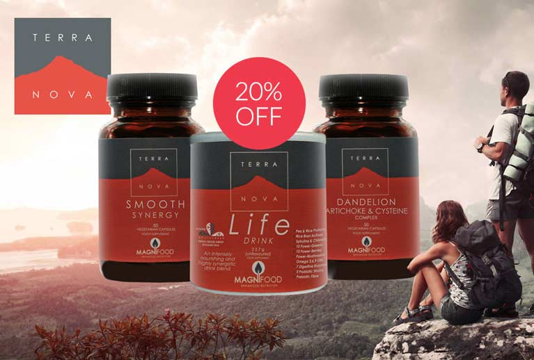 20% off selected Terranova health supplements