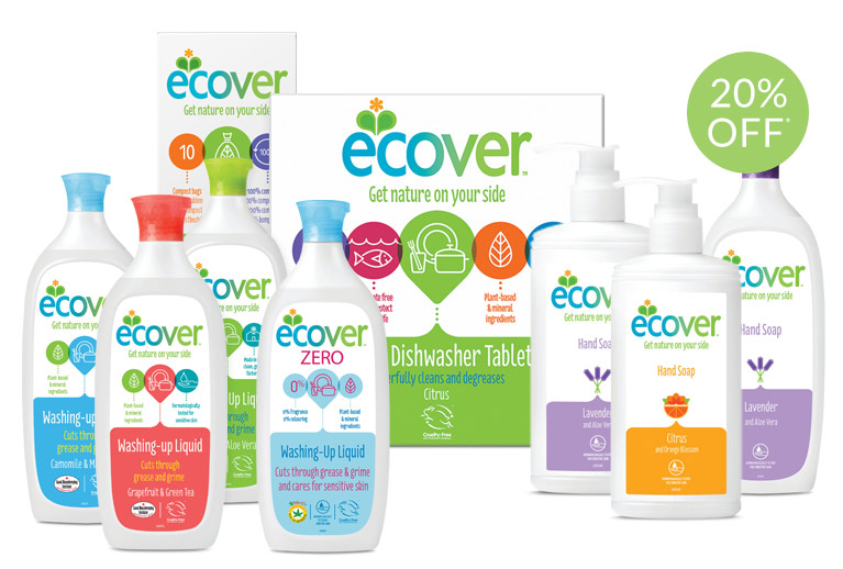 20% off selected Ecover cleaning products