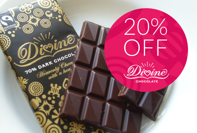 20% off Divine Chocolate