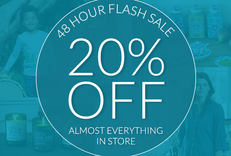 Enjoy our 48 hour Flash Sale with 20% off across the store