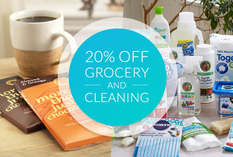 Clean up or stock up with 20% off all Grocery & Cleaning