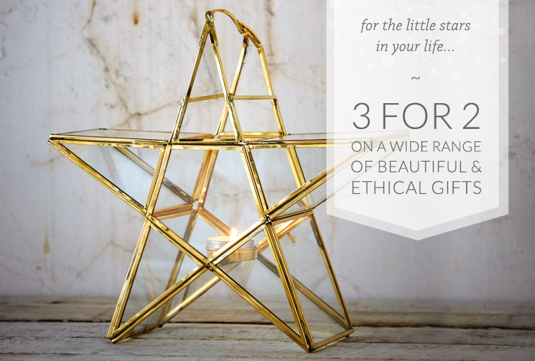 3 for 2 on a wide range of beautiful ethical gifts