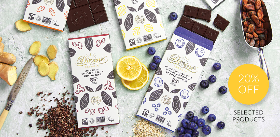 20% off selected Divine Chocolate