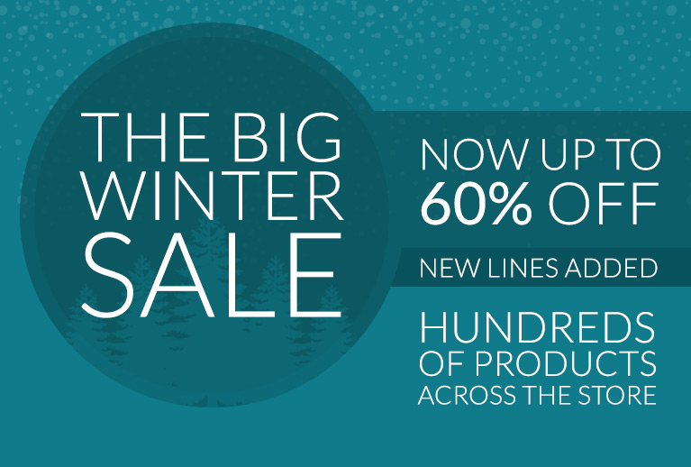 Now up to 60% off fashion, home and more in our Big Winter Sale