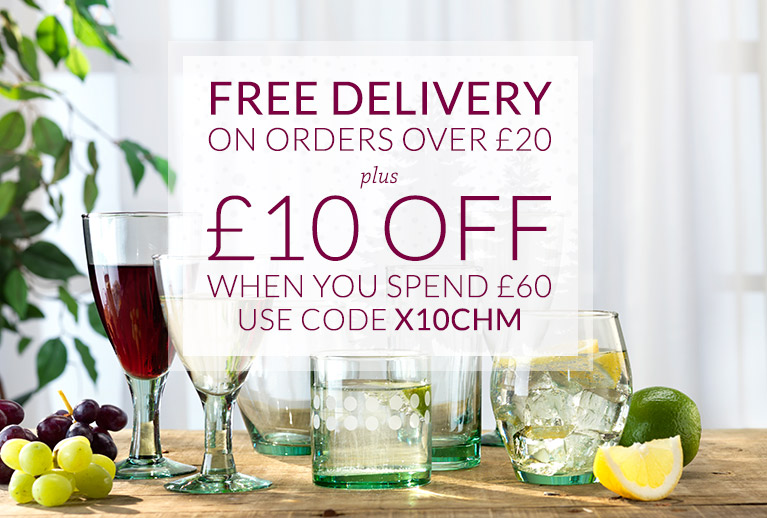 Free delivery over £20, and £10 off when you spend £60 - use the code X10CHM
