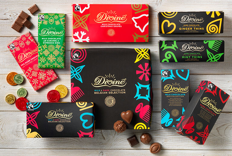 Christmas chocolate - treats from Divine, Montezuma's, Green & Black's & more