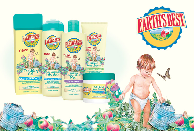 New in store: Earth's Best gentle baby bodycare