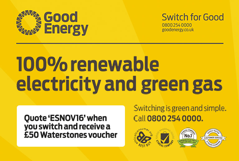 Switch to Good Energy and get a £50 Waterstones voucher