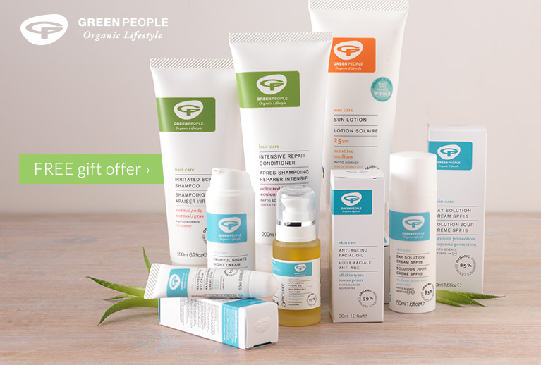 Free 100ml shampoo with any 2 Green People products