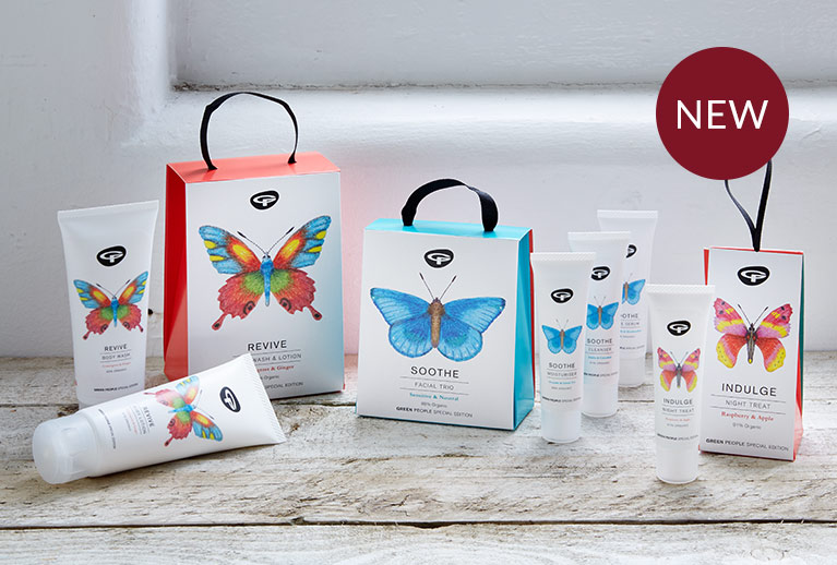 Gorgeous Green People beauty gift sets that benefit butterfly conservation