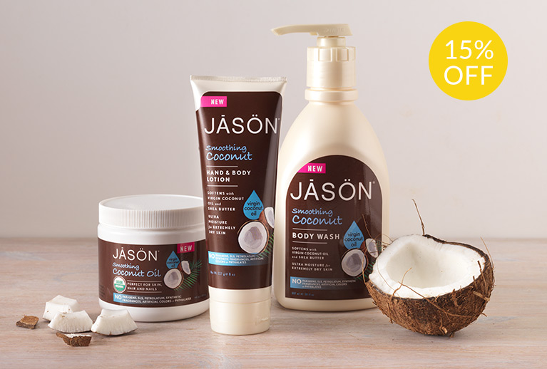 15% off selected JASON coconut bodycare