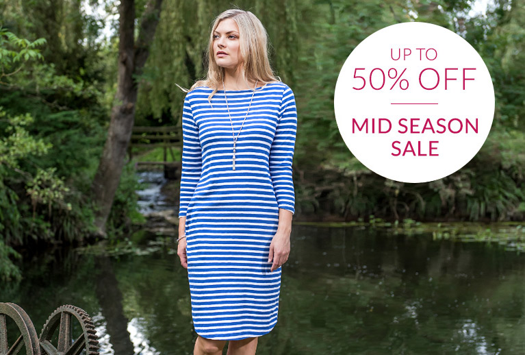 Up to 50% off home, fashion and more in our Mid Season Sale!
