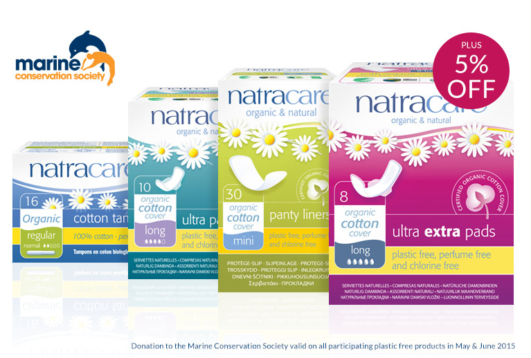 5% off Natracare plus donations to protect marine life