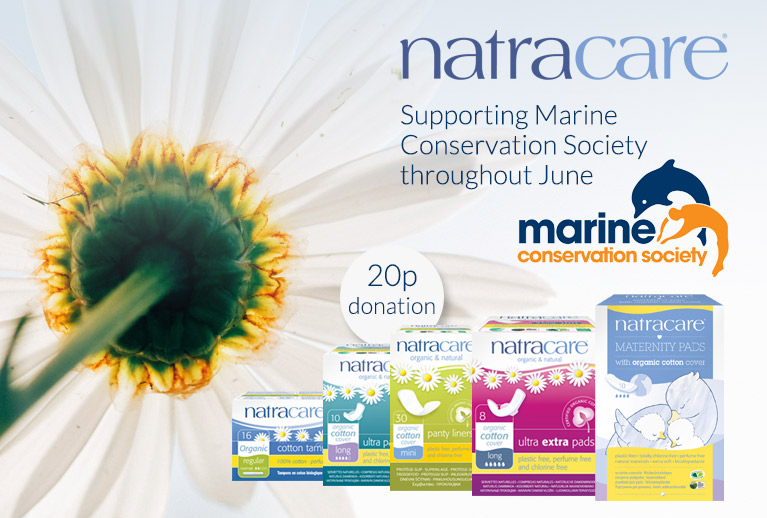 20p donation to Marine Conservation with selected Natracare products