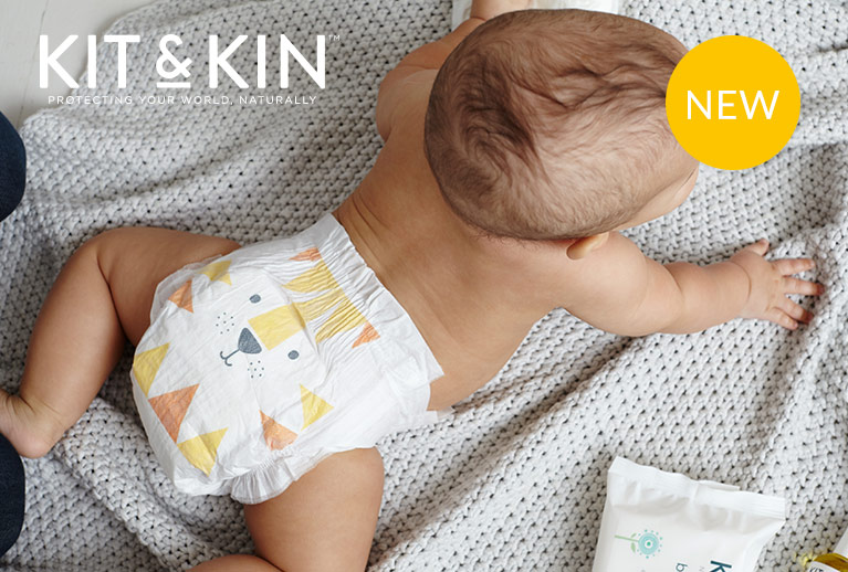 NEW Kit & Kin biodegradable eco nappies