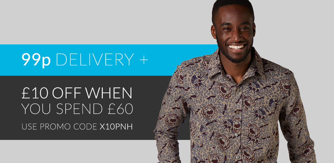 Ethical Menswear - £10 off £60. Plus 99p delivery!
