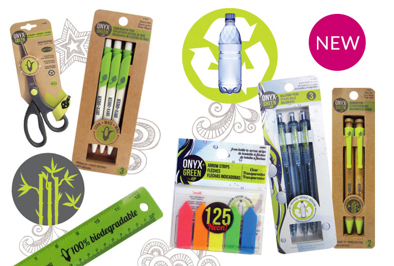Back to school with eco-friendly stationery