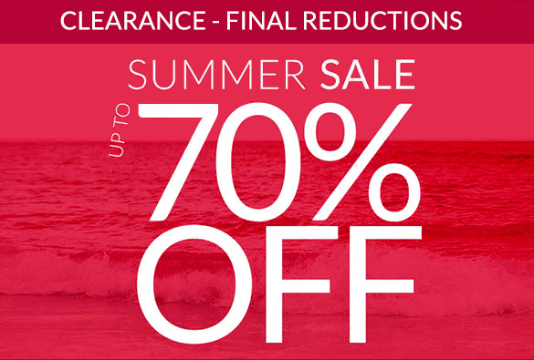 Summer Sale Clearance - now up to 70% off